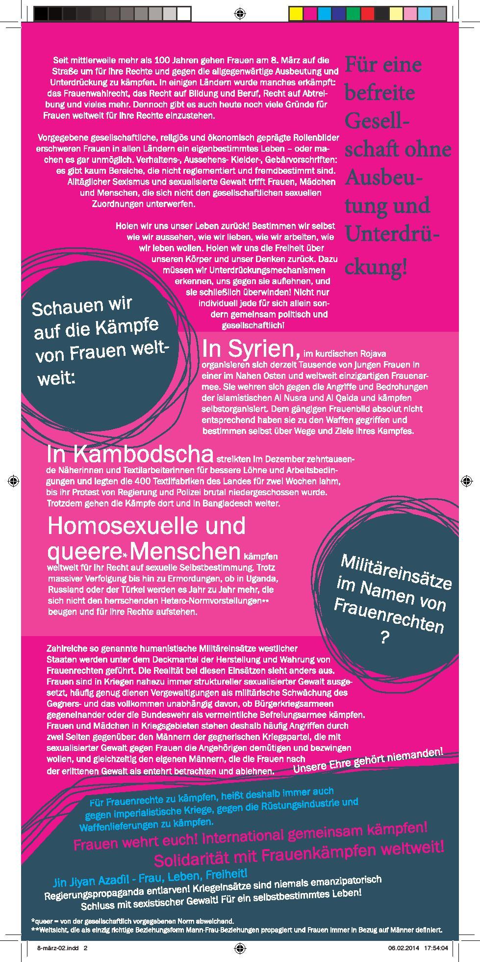 Frauenkampftag Nürnberg