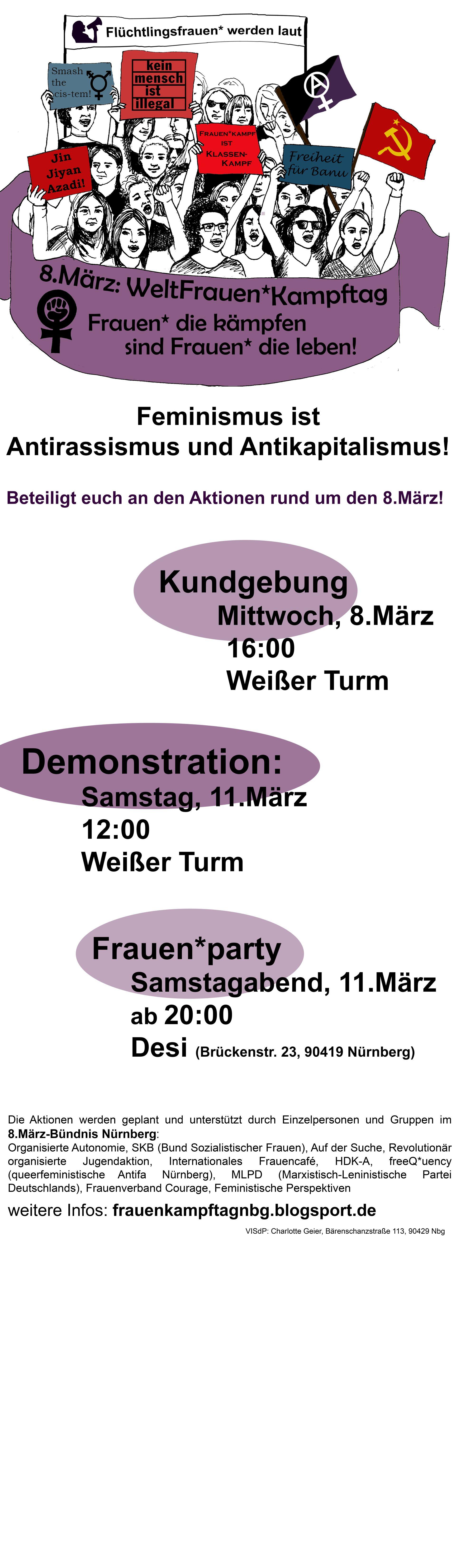 8.März Nürnberg Plakat 2017
